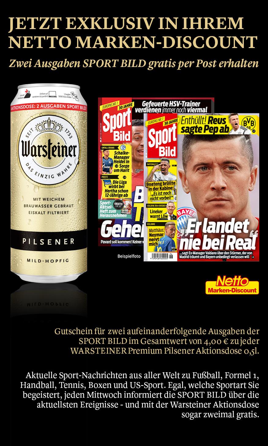 Sportbild Warsteiner Premium Bier